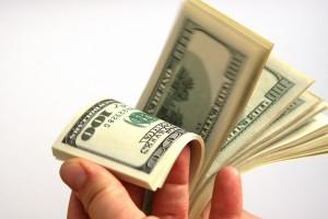 de fans de dólares de dinero se deposita